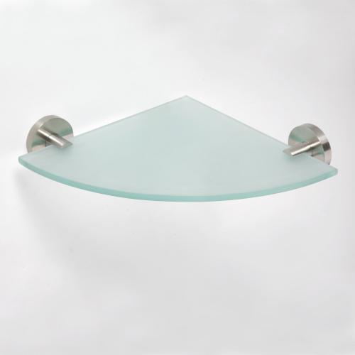 Neo stainless 104102015 Нержавеющая стальАксессуары для ванной<br>Полочка для ванной Bemeta Neo stainless 104102015 стеклянная угловая. Нержавеющая сталь<br>