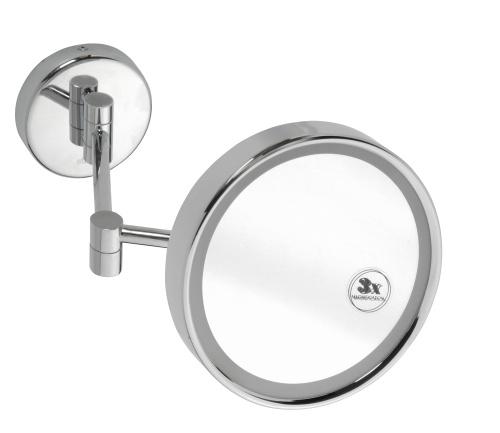 Cosmetic mirrors 112101142 ГлянецАксессуары для ванной<br>Косметическое зеркало для ванной Bemeta Cosmetic mirrors 112101142 подвесное с подсветкой. Цвет глянец.<br>
