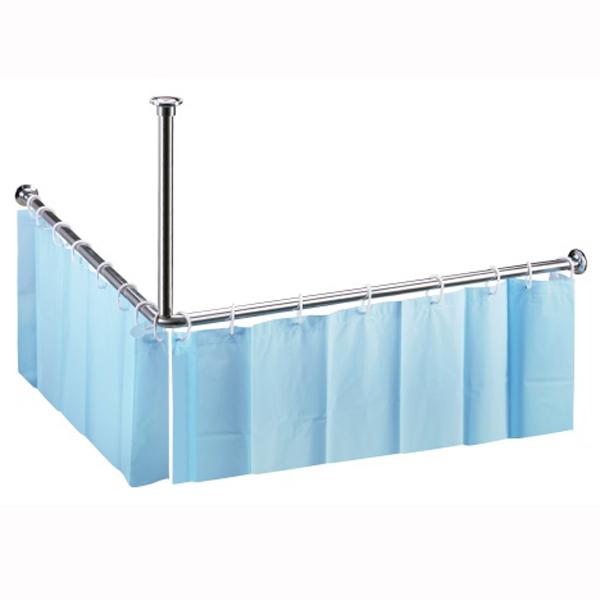 Shower Programme 101120042 ГлянецАксессуары для ванной<br>Штанга для занавески для душа Bemeta Shower Programme 101120042 угловая. Цвет глянец. Ширина: 900 мм. Высота: 490 мм. Глубина: 900 мм.<br>