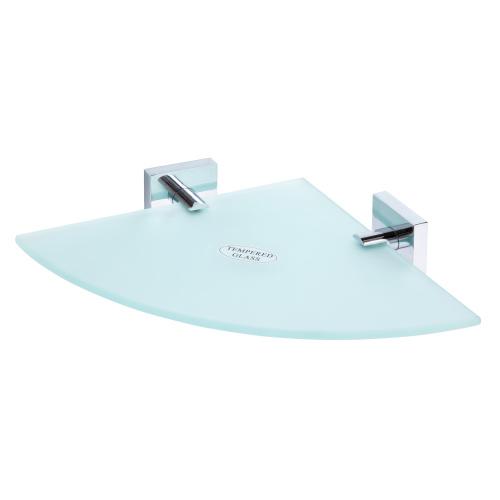 Beta 132102012 ХромАксессуары для ванной<br>Полочка для ванной Bemeta Beta 132102012 стеклянная угловая. Цвет хром.<br>