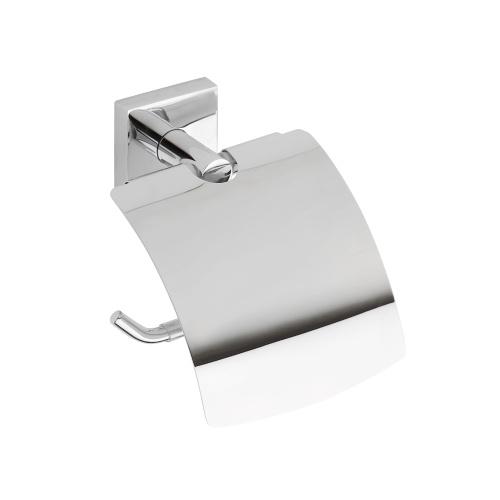Beta 132112012 ХромАксессуары для ванной<br>Держатель для туалетной бумаги Bemeta Beta 132112012 с крышкой. Цвет хром.<br>