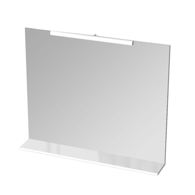 Avon SKG 90.05 Черный/Универсальная кромкаМебель для ванной<br>Gorenje Avon SKG 90.05 зеркало. Зеркало с полкой и светильником Rut, цвет полки черный.<br>