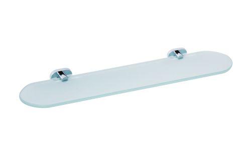 Oval 118402031 ХромАксессуары для ванной<br>Полочка для ванной Bemeta Oval 118402031 стеклянная. Цвет хром.<br>