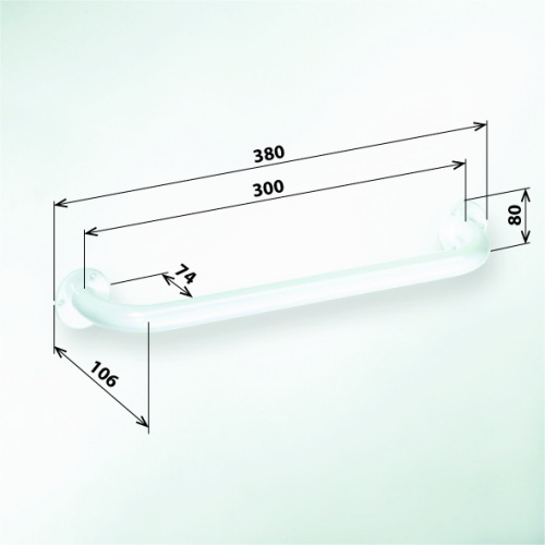 Help 301100304 БелыйАксессуары для ванной<br>Поручень для ванны Bemeta Help 301100304 300 мм. Цвет белый.<br>
