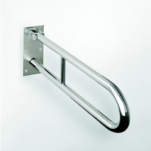 Help 301102071 Нержавеющая стальАксессуары для ванной<br>Поручень для ванной Bemeta Help 301102071 откидной U-образный. Нержавеющая сталь<br>