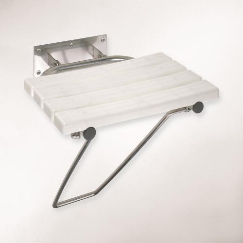 Help 301102181 Нержавеющая стальАксессуары для ванной<br>Откидное сиденье для душа с опорной ножкой Bemeta Help 301102181. Нержавеющая сталь.<br>