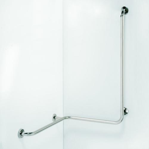 Help 301112022 Нержавеющая стальАксессуары для ванной<br>Поручень для душа Bemeta Help 301112022 с левым вертикальным плечом. Нержавеющая сталь<br>