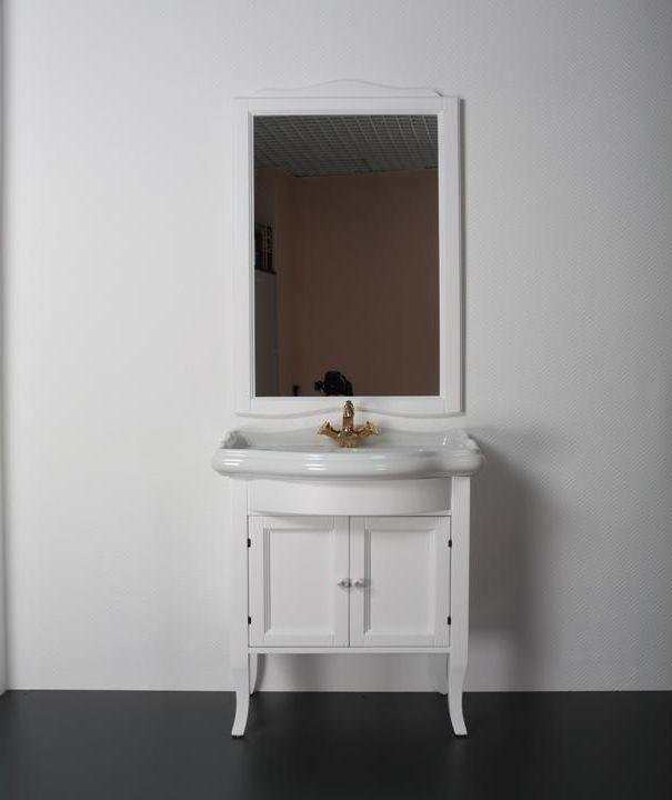 Rebecca 69 Bianco opacoМебель для ванной<br>TW Rebecca 69 тумба под раковину. Стоимость указана за напольную тумбу без раковины, цвет: bianco opaco (белый матовый), ручки керамика. Раковина и зеркало приобретаются отдельно.<br>