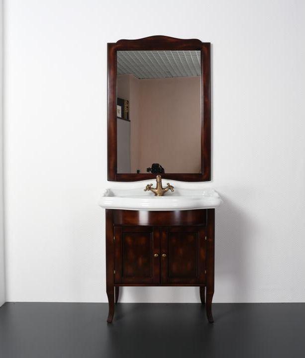 Rebecca 73 NoceМебель для ванной<br>TW Rebecca 73 тумба под раковину. Стоимость указана за напольную тумбу без раковины, цвет: noce (темный орех), ручки бронза. Раковина и зеркало приобретаются отдельно.<br>