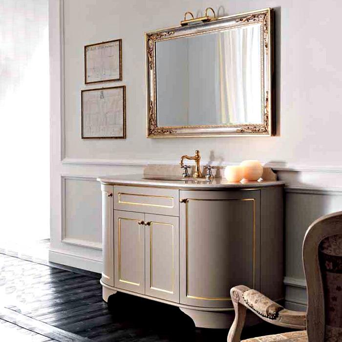 York на ножках PennellatoМебель для ванной<br>TW York тумба под мраморную столешницу. Стоимость указана за напольную тумбу без столешницы и раковины. Тумба с четырьмя дверками, цвет: Pennellato, декор Rigo Oro, ручки золото. Раковина, столешница, зеркало и светильники приобретаются отдельно.<br>