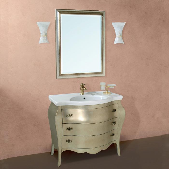 Barocco 7230 напольная Bianco puroМебель для ванной<br>TW Barocco 7230 тумба под раковину. Стоимость указана за напольную тумбу без раковины, цвет: bianco puro, ручки бронза. Раковина и зеркало приобретаются отдельно.<br>