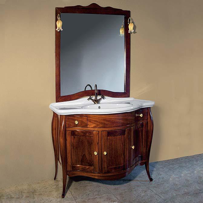 Ferrara напольная Tinta mokaМебель для ванной<br>TW Ferrara тумба под раковину. Стоимость указана за напольную тумбу без раковины, цвет: tinta moka, ручки бронза. Раковина и зеркало приобретаются отдельно.<br>