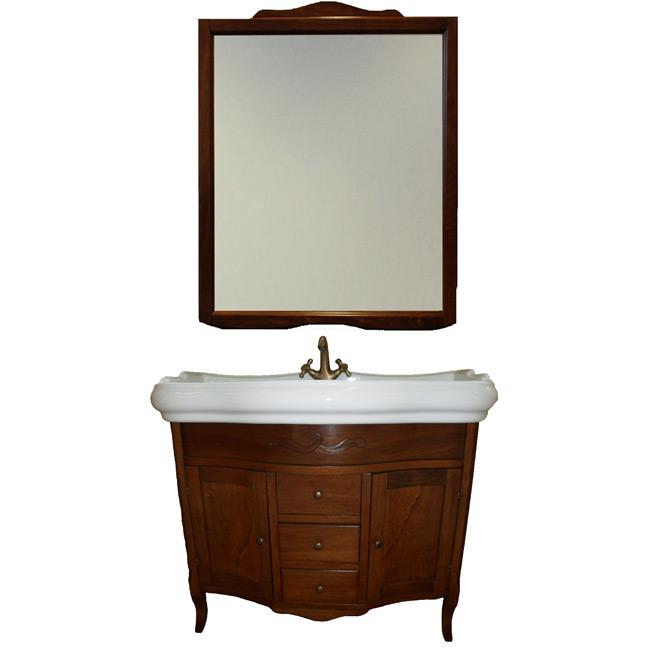 Sofia 100 на ножках Bianco decapeМебель для ванной<br>TW Sofia 100 тумба под раковину. Стоимость указана за напольную тумбу без раковины, цвет: bianco decape (белая структура). Раковина и зеркало приобретаются отдельно.<br>