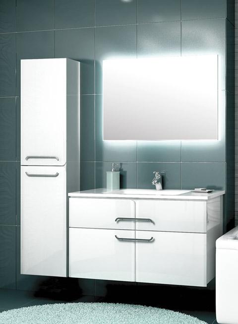 Некст 75 БелаяМебель для ванной<br>Тумба подвесная Edelform Next 75 с двумя выдвижными ящиками.<br>