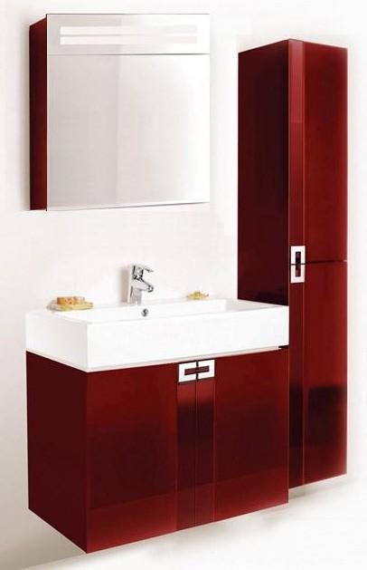 Поинт 60 КрасныйМебель для ванной<br>Тумба подвесная Edelform Point с двумя распашными дверцами. Стоимость указана только за тумбу, дополнительно вы можете приобрести раковину, зеркальный шкаф и пенал.<br>