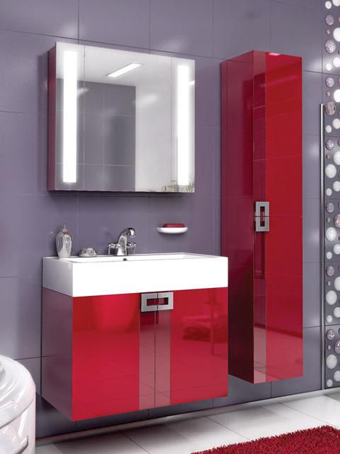 Поинт 80 КрасныйМебель для ванной<br>Тумба подвесная Edelform Point 80 с двумя распашными дверцами. Стоимость указана только за тумбу, дополнительно вы можете приобрести раковину, зеркальный шкаф и пенал.<br>