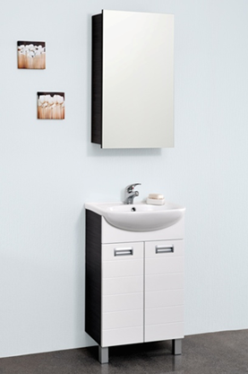 Бостон 50 МалибуМебель для ванной<br>Тумба напольная Бостон 50, две распашных дверцы. Стоимость указана только за тумбу, дополнительно вы можете приобрести раковину, зеркальный шкаф и пенал.<br>