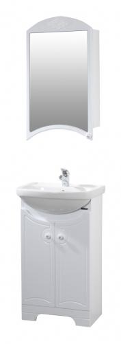 Лион 50 БелыйМебель для ванной<br>Тумба напольная Лион 475x305x810 мм, две распашные дверцы. В стоимость входит только тумба, дополнительно вы можете приобрести раковину и зеркальный шкаф.<br>