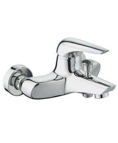 Ocker OC1810 ХромСмесители<br>Edelform Ocker смеситель для ванны однорычажный. В комплекте: эксцентрики, отражатели, армированный гибкий шланг 150 см, душевая лейка, поворотный держатель лейки, крепёж.<br>