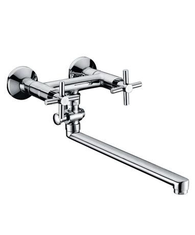 Denim DN28102 ХромСмесители<br>Edelform Denim смеситель для ванны. В комплекте: эксцентрики, отражатели, армированный гибкий шланг 150 см, душевая лейка, поворотный держатель лейки, крепёж.<br>