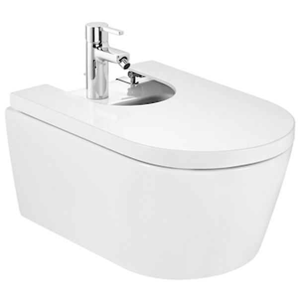 Inspira Round 357525000 подвесное БелоеБиде<br>Подвесное биде Roca Inspira Round 357525000 белого цвета с переливом и одним отверстием для смесителя. Украсит любой интерьер ванной комнаты своими плавными округлыми формами. Отличается простотой и удобством, стойкостью цвета на многие годы и гладкой поверхностью.<br><br>Размер (ШхВхД): 37 х 25 х 56 см.<br>Материал: сантехнический фаянс.<br>1 отверстие для смесителя.<br>Встроенный слив-перелив.<br><br>Монтаж подвесной с установкой на инсталляцию.<br>В комплекте поставки: биде.<br>