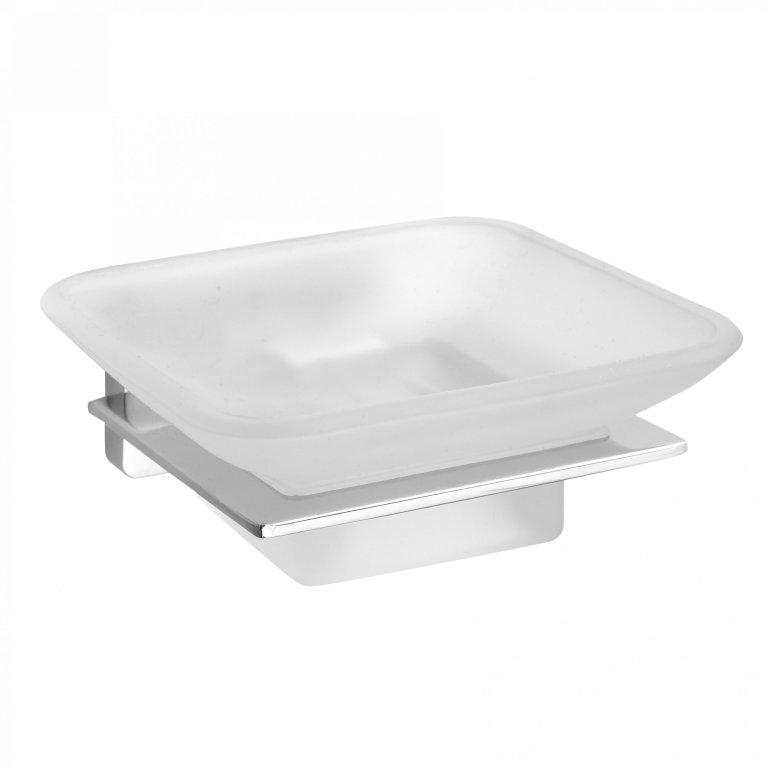 Niki 153108022 ХромАксессуары для ванной<br>Мыльница Bemeta Niki 153108022 в ванную комнату.<br>Мыльница выполнена в современном стиле (Hi-Tech), который будет органично смотреться в интерьере ванной. <br><br>Размеры: 10 x 4 x 11 см.<br>Использованы материалы: латунь / стекло.<br>Цвет: хром.<br><br>