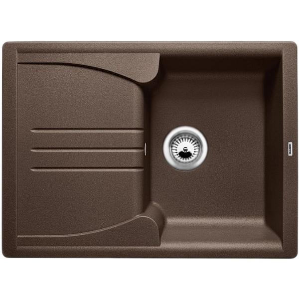 Enos 40S ЖасминКухонные мойки<br>Оборачиваемая кухонная мойка Blanco Enos 40S 514230 из гранита, с вместительной чашей и удобным крылом для принадлежностей. Элегантное решение для кухни: оригинальный дизайн, приятный цвет: жасмин, эффективное использование пространства и комфортные условия.<br>Конструкция:<br><br>Универсальная ориентация: крыло слева или справа.<br>Экологически чистые и безопасные материалы.<br>Идеальный материал для кухни Silgranit: 80 процентов гранитной крошки.<br>Покрытие PuraDurII: защита от грязи и налета.<br>Приятная на ощупь и прочная поверхность: подобие отшлифованного камня.<br>Легкость в очистке, устойчивость к царапинам, ударопрочность.<br>Стойкость бытовым кислотам и выцветанию: 100 процентов.<br>Устойчивость к температурам: до 280 градусов.<br>Монтаж: для установки в тумбу шириной от 40 см.<br>Рекомендации по монтажу: учитывать ширину пристенного канта.<br><br>В комплекте поставки:<br><br>чаша мойки;<br>переливное отверстие и дополнительный слив воды в крыле;<br>два размеченных отверстия для смесителя или аксессуаров;<br>отводная арматура с корзинчатым вентилем 3 1/2.<br><br>