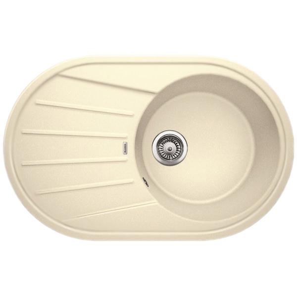 Tamos 45S АнтрацитКухонные мойки<br>Оборачиваемая кухонная мойка Blanco Tamos 45S 521390 из гранита, с вместительной круглой чашей и просторным крылом с рельефным рисунком. Элегантное решение для кухни: функциональный дизайн, приятный цвет: антрацит, эффективное использование пространства и комфортные условия.<br>Конструкция:<br><br>Универсальная ориентация: крыло слева или справа.<br>Экологически чистые и безопасные материалы.<br>Идеальный материал для кухни Silgranit: 80 процентов гранитной крошки.<br>Покрытие PuraDurII: защита от грязи и налета.<br>Приятная на ощупь и прочная поверхность: подобие отшлифованного камня.<br>Легкость в очистке, устойчивость к царапинам, ударопрочность.<br>Стойкость бытовым кислотам и выцветанию: 100 процентов.<br>Устойчивость к температурам: до 280 градусов.<br>Монтаж: встраиваемый сверху на тумбу шириной от 45 см.<br>Рекомендации по монтажу: учитывать ширину пристенного канта.<br><br>В комплекте поставки:<br><br>чаша мойки;<br>два размеченных отверстия для смесителя или аксессуаров;<br>переливное отверстие;<br>отводная арматура с корзинчатым вентилем 3 1/2.<br><br>