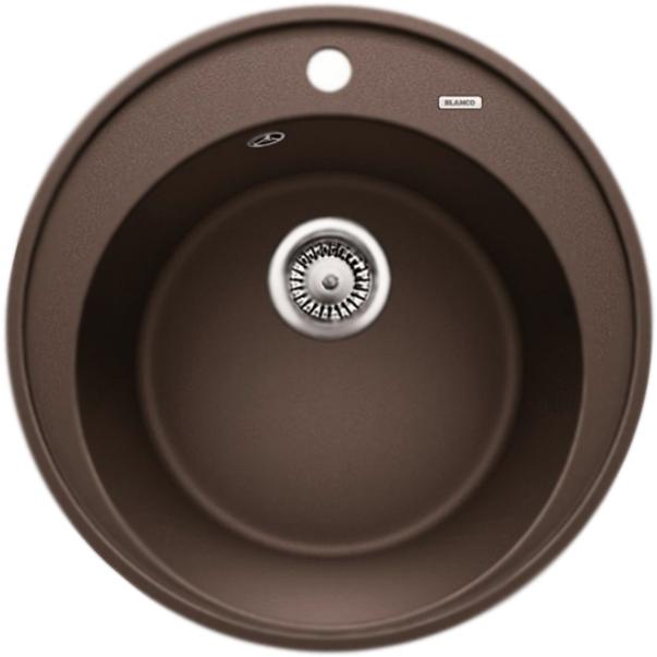 Riona 45 АнтрацитКухонные мойки<br>Круглая кухонная мойка Blanco Riona 45 521396 из гранита, с вместительной чашей и удобным бортиком для смесителя и принадлежностей. Элегантное решение для кухни: функциональный дизайн со смещенными кругами, приятный цвет: антрацит, эффективное использование пространства и комфортные условия.<br>Конструкция:<br><br>Экологически чистые и безопасные материалы.<br>Идеальный материал для кухни Silgranit: 80 процентов гранитной крошки.<br>Покрытие PuraDurII: защита от грязи и налета.<br>Приятная на ощупь и прочная поверхность: подобие отшлифованного камня.<br>Легкость в очистке, устойчивость к царапинам, ударопрочность.<br>Стойкость бытовым кислотам и выцветанию: 100 процентов.<br>Устойчивость к температурам: до 280 градусов.<br>Монтаж: встраиваемый сверху на тумбу шириной от 45 см.<br>Рекомендации по монтажу: учитывать ширину пристенного канта.<br><br>В комплекте поставки:<br><br>чаша мойки;<br>одно готовое и одно размеченное отверстия для смесителя или аксессуаров;<br>переливное отверстие;<br>отводная арматура с корзинчатым вентилем 3 1/2.<br><br>