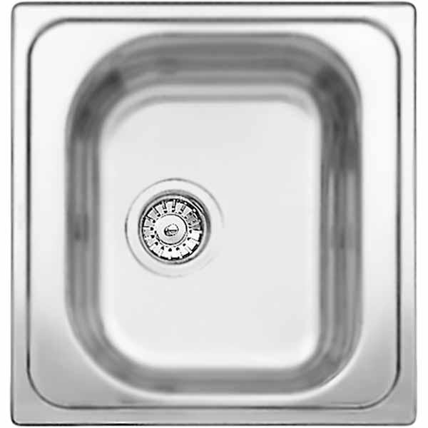 Tipo 45 Матовая стальКухонные мойки<br>Кухонная мойка Blanco Blanco Tipo 45 из нержавеющей стали, компактных размеров, с вместительной чашей с переливом, с широкими бортиками для смесителя и принадлежностей.<br>Конструкция:<br><br>Материал: высококачественная нержавеющая сталь.<br>Поверхность: матовая полировка.<br>Устойчивость к коррозии, высоким температурам и кислотам.<br>Стойкость образованию пятен и выцветанию.<br>Легкость в очистке, безопасность и гигиеничность.<br>Монтаж: встраиваемый сверху или снизу в один уровень со столешницей.<br>Совет по ширине тумбы под мойку: 45 см.<br><br>В комплекте поставки:<br><br>чаша мойки;<br>переливное отверстие;<br>отводная арматура с корзинчатым вентилем 3 1/2.<br><br>
