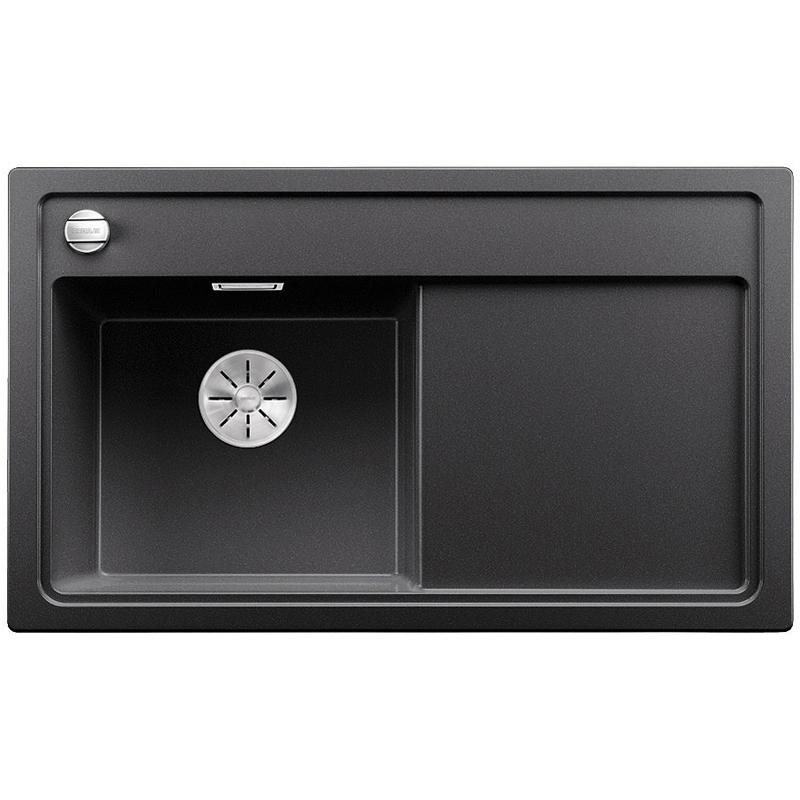 Zenar 45S чаша слева ШампаньКухонные мойки<br>Кухонная мойка Blanco Zenar 45S 523814.<br><br><br>Кухонная мойка в современном дизайне с преобладанием прямых линий. По периметру она обрамлена тонким кантом и имеет функциональное крыло. Мойка отлично впишется в интерьер любой кухни.<br><br><br><br>Материал Silgranit PuraDur устойчив к механическим воздействиям и высоким температурам.<br>Стойкость к загрязнению и простота в уходе.<br>Непористая структура поверхности.<br>Монтаж: встраиваемый сверху или снизу.<br>Размер чаши (ШxГ): 40 x 34.5 см.<br>Размер монтажного отверстия (ШxГ): 84 x 49 см.<br>Поверхность мойки обладает антибактериальными свойствами.<br>Слив-перелив C-overflow.<br>4 размеченных отверстия под смеситель.<br><br><br><br>Объем поставки: чаша мойки, клапан-автомат (3.5 дюйма),  отводная арматура InFino, разделочная доска.<br>