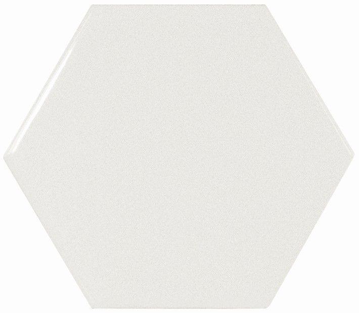 Керамическая плитка Equipe Scale Hexagon White Matt настенная 10,7х12,4 см