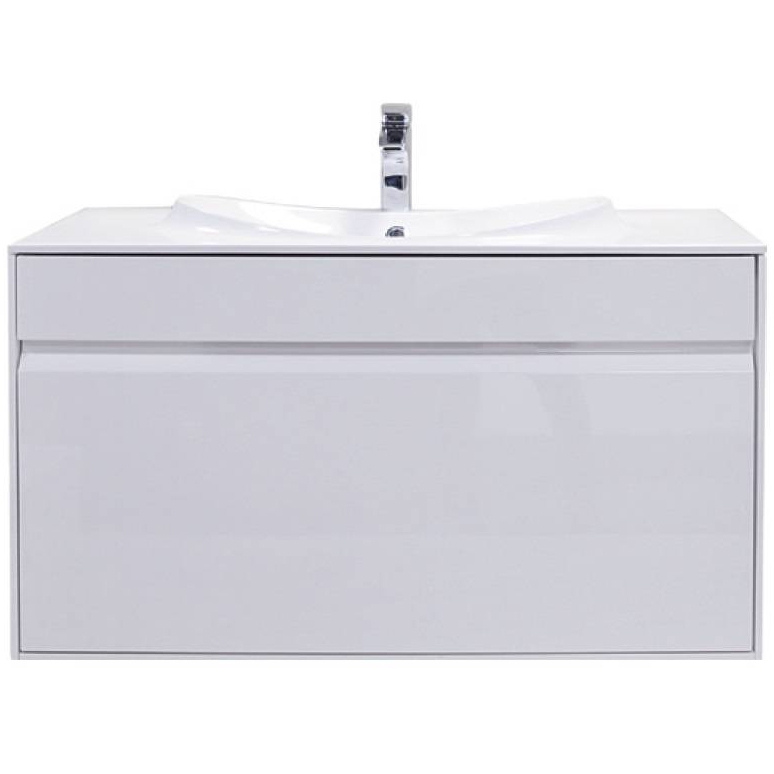 Laks 80 подвесная Белый глянецМебель для ванной<br>Подвесная тумба под раковину Roca Laks ZRU9302798 шириной 80 см с одним большим выдвижным ящиком и внутренним выдвижным ящиком-органайзером.<br>Идеально сочетается в интерьере любой ванной комнаты в стилистике современного дизайна. Отличается компактными размерами, функциональностью и глянцевым белым цветом. Предназначена для использования в условиях повышенной влажности.<br>Габариты корпуса тумбы (ШхВхГ): 79,6 х 50,8 х 44,8 см.<br>Материал корпуса: влагостойкая ЛДСП.<br>Материал фасада: влагостойкая МДФ.<br>Защитное покрытие: глянцевая эмаль белого цвета.<br>Фурнитура: доводчики с механизмом плавного и бесшумного закрывания производства Blum (Австрия).<br>Установка подвесная с креплением на стену.<br>В комплекте поставки:<br>Тумба.<br>Крепления.<br>2 ящика.<br>Инструкция.<br>