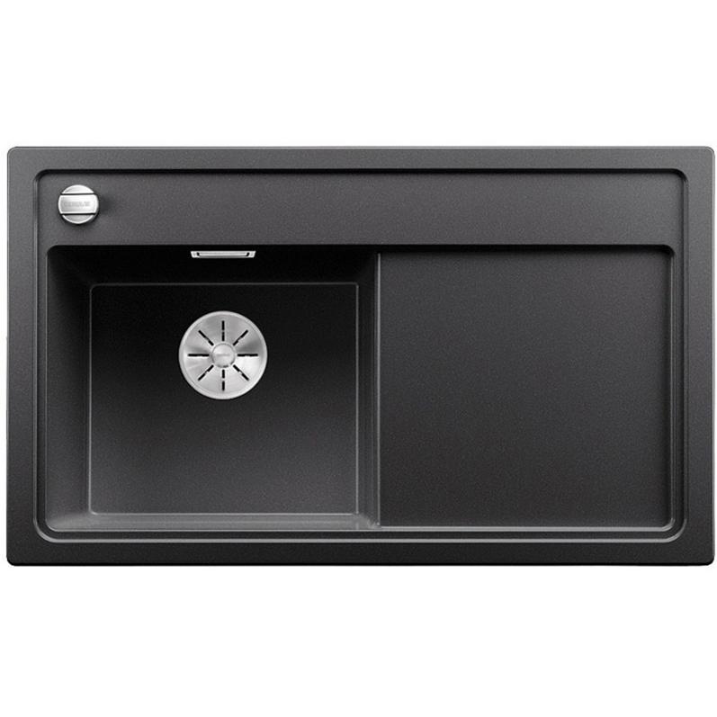 Zenar XL 6 S-F чаша слева ЖасминКухонные мойки<br>Мойка для кухни Blanco Zenar XL 6 S-F 523913.<br>Современная кухонная мойка коллекции Zenar с глубокой чашей и широким крылом позволяет оптимизировать использование рабочей зоны благодаря плоскому канту, который обеспечивает легкий уход. Мойка изготавливается с широкой площадкой для смесителя, что дает возможность располагать на ней чистящие средства. Идеально сочетается в любом интерьере кухни.<br>Материал мойки: Silgranit PuraDur. На 80% состоит из натурального гранита и делает мойку очень прочной и устойчивой к высоким температурам (до 280 градусов), царапинам, кислотам и красящим веществам. Поверхность с антибактериальными свойствами.<br>Простота в уходе достигается за счет отсутствия пористой структуры и наличия водоотталкивающих компонентов в составе материала. Это препятствует образованию налета от воды и пятен. Мойка обладает теплым внешним видом материала и устойчивым цветом, который не выцветает даже под воздействием прямых солнечных лучей.<br>Функциональная отводная арматура InFino с клапаном-автоматом диаметром 3,5 дюйма.<br>Разделочная доска из безопасного закаленного стекла черного цвета.<br>Монтаж: врезной, в уровень со столешницей.<br>Размер чаши (ШхГ): 46,5 х 19 см.<br>Размер монтажного отверстия (ШxД): 98 x 49 см.<br>Высококачественный перелив C-overflow.<br>Чаша слева, крыло справа.<br>Три намеченных отверстия под смеситель и одно для клапана.<br>В комплекте поставки: мойка, отводная арматура, клапан-автомат, разделочная доска.<br>