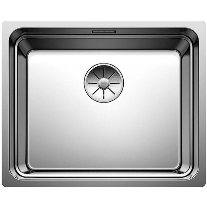 Etagon 500-IF Полированная стальКухонные мойки<br>Мойка для кухни Blanco Etagon 500-IF 521840. Цвет: Полированная сталь.<br>Современная кухонная мойка коллекции Etagon изготавливается со встроенным выступом на чаше для установки держателей, что позволяет использовать ее на трех уровнях: на дне чаши, на держателях и на крае столешницы. На держателях удобно хранить кухонные принадлежности и посуду, а при ненадобности их можно компактно сложить или убрать вовсе. Мойка превосходно сочетается с любым интерьером кухни.<br>Мойка выполнена из высококачественной нержавеющей стали, что позволяет ей противостоять образованию коррозии, высоким температурам и кислотам, стойкая к образованию пятен и выцветанию. Зеркальная полированная поверхность выглядит эстетично и притягивает взгляд своим блеском.<br>Функциональная отводная арматура InFino с корзинчатым вентилем диаметром 3,5 дюйма.<br>Фирменные держатели Etagon из нержавеющей стали.<br>Высококачественный гигиеничный перелив C-overflow.<br>Монтаж: врезной (сверху) или в один уровень со столешницей.<br>Для установки в шкаф шириной от 50 см.<br>Размер основной чаши (ШхГ): 50 х 19 см.<br>Размер монтажного отверстия (ШxД): 53 x 43 см.<br>В комплекте поставки: мойка, отводная арматура, корзинчатый вентиль, держатели, набор крепежа.<br>