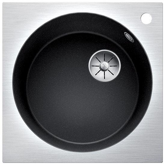 Artago 6-IF/A SteelFrame БелаяКухонные мойки<br>Кухонная мойка Blanco Artago 6-IF/A SteelFrame 521767.<br><br><br>Оборачиваемая кухонная мойка серии Artago выполнена в современном дизайне, сочетающим прямые углы и круглую чашу. Верхняя часть мойки сделана из стали, а чаша - из искусственного гранита. Модель отлично впишется в интерьер любой кухни.<br><br><br><br>Материал Silgranit PuraDur устойчив к механическим воздействиям и высоким температурам.<br>Стойкость к загрязнению и простота в уходе.<br>Непористая структура поверхности.<br>Монтаж: встраиваемый сверху (врезной) или вровень со столешницей.<br>Диаметр чаши: 44 см.<br>Размер монтажного отверстия (ШxГ): 49 x 49 см.<br>Поверхность мойки обладает антибактериальными свойствами.<br>Слив-перелив C-overflow.<br>1 готовое и 3 размеченных отверстия под смеситель.<br><br><br><br>Объем поставки: чаша мойки, корзинчатый вентиль InFino (3.5 дюйма),  отводная арматура.<br>