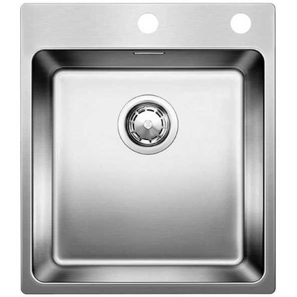 Andano 400-IF/A Полированная стальКухонные мойки<br>Мойка для кухни Blanco Andano 400-IF/A 522993. Цвет: Полированная сталь.<br>Современная кухонная мойка коллекции Andano с площадкой для смесителя изготавливается с плоским кантом, который обеспечивает легкий уход. Вместительная чаша облегчает процесс мытья посуды. Она превосходно сочетается с любым интерьером кухни.<br>Мойка выполнена из высококачественной нержавеющей стали 18/10, что позволяет ей противостоять образованию коррозии, высоким температурам и кислотам, стойкая к образованию пятен и выцветанию. Зеркальная полированная поверхность выглядит эстетично и притягивает взгляд своим блеском.<br>Функциональная отводная арматура InFino с клапаном-автомат диаметром 3,5 дюйма.<br>Высококачественный гигиеничный перелив C-overflow.<br>Монтаж: врезной (сверху) или в один уровень со столешницей.<br>Для установки в шкаф шириной от 45 см.<br>Размер чаши (ШхГ): 40 х 19 см.<br>Размер монтажного отверстия (ШxД): 43 x 49 см.<br>Одно отверстие под смеситель и одно для клапана.<br>В комплекте поставки: мойка, отводная арматура, клапан-автомат, набор крепежа.<br>