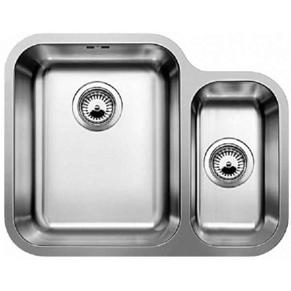 Ypsilon 550-U R с корзинчатым вентилемКухонные мойки<br>Мойка для кухни Blanco Ypsilon 550-U 518209 с корзинчатым вентилем. Цвет: Полированная сталь.<br>Современная кухонная мойка коллекции Ypsilon с глубокой и вместительной основной чашей и компактной дополнительной чашей позволит оптимизировать использование рабочей зоны благодаря плоскому канту, который обеспечивает легкий уход и простую установку под столешницу. Она превосходно сочетается с любым интерьером кухни.<br>Мойка выполнена из высококачественной нержавеющей стали, что позволяет ей противостоять образованию коррозии, высоким температурам и кислотам, стойкая к образованию пятен и выцветанию. Зеркальная полированная поверхность выглядит эстетично и притягивает взгляд своим блеском.<br>Функциональная отводная арматура InFino с корзинчатым вентилем диаметром 3,5 дюйма.<br>Переливное отверстие.<br>Монтаж: встраивается под столешницу.<br>Для установки в шкаф шириной от 60 см.<br>Размер основной чаши (ШхГ): 34 х 17,5 см.<br>Размер дополнительной чаши (ШхГ): 18 х 13 см.<br>Размер монтажного отверстия (ШxД): 55 x 42 см.<br>Основная чаша справа, дополнительная слева.<br>В комплекте поставки: мойка, отводная арматура, корзинчатый вентиль, набор крепежа.<br>