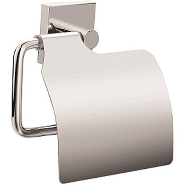 Держатель туалетной бумаги Milardo Amur AMUSMC0M43 с крышкой Хром держатель milardo bering be021mi хром