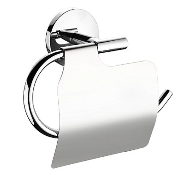 Держатель туалетной бумаги Milardo Cadiss CADSMC0M43 с крышкой Хром держатель milardo bering be021mi хром