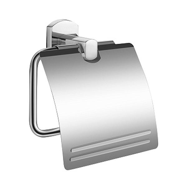 Neva NEVSMC0M43 с крышкой ХромАксессуары для ванной<br>Держатель туалетной бумаги Milardo Neva NEVSMC0M43 с крышкой.<br>Выполнен в лаконичном современном стиле. Станет изящным дополнением любой ванной комнаты за счет округлых форм элементов конструкции.<br>Держатель изготовлен из прочного сплава металлов с никель-хромовым покрытием, которое придает изделиям высокую влаго- и износостойкость, что обеспечивает их долгий срок службы.<br>Монтаж скрытый - шурупами к стене, не требует профессиональных навыков и знаний.<br>Габариты (ШхВхГ): 14,3 х 13,4 х 5,3 см.<br>В комплекте поставки: держатель, крепеж.<br>