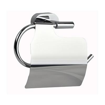 Держатель туалетной бумаги Milardo Solomon SOLSMC0M43 с крышкой Хром держатель milardo bering be021mi хром