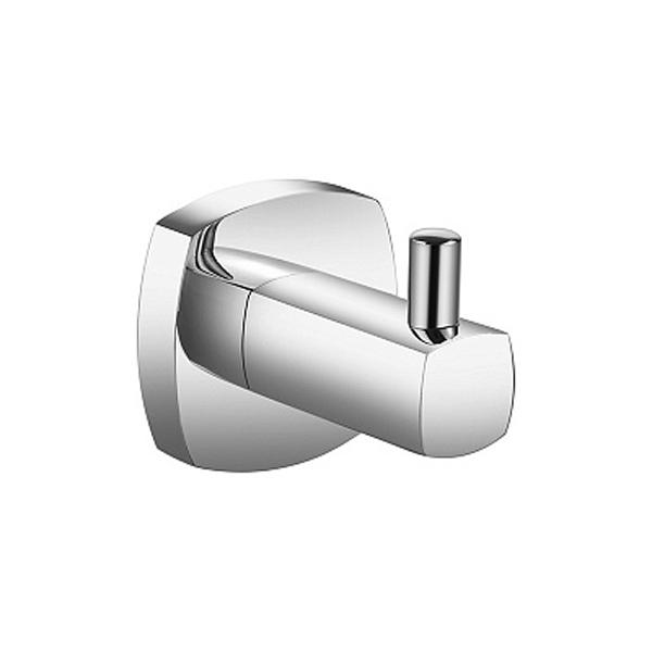 Volga VOLSM10M41 ХромАксессуары для ванной<br>Одинарный крючок для полотенец Milardo Volga VOLSM10M41.<br>Выполнен в лаконичном современном стиле. Станет изящным дополнением любой ванной комнаты за счет плавных линий и закругленных углов элементов конструкции.<br>Крючок изготовлен из прочного сплава металлов с никель-хромовым покрытием, которое придает изделиям высокую влаго- и износостойкость, что обеспечивает их долгий срок службы.<br>Монтаж скрытый - шурупами к стене или двери, не требует профессиональных навыков и знаний.<br>Габариты (ШхВхГ): 4,7 х 5,1 х 5,4 см.<br>В комплекте поставки: крючок, крепеж.<br>