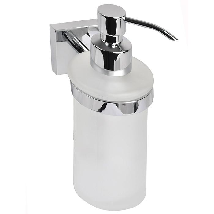 Edifice EDIMBG0i46 ХромАксессуары для ванной<br>Дозатор жидкого мыла Iddis Edifice EDIMBG0i46 в ванную комнату.<br>Дозатор выполнен в современном стиле (Hi-Tech) из высококачественной латуни, что гарантирует долгий срок эксплуатации. Стойкое никель-хромовое покрытие защищает изделие от коррозии. <br><br>Размеры: 88.5 х 17.1 х 8.8 мм.<br>Использованы материалы: латунь/стекло.<br>Цвет: хром.<br>В комплекте : крепеж.<br> <br>