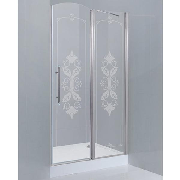Giubileo В-12 100 профиль Хром L стекло прозрачное с матовым принтомДушевые ограждения<br>Душевая дверь Cezares Giubileo В-12 100 профиль Хром (GIUBILEO-B-12-100-CP-Cr-L).<br>Конструкция двери в левом исполнении станет прекрасным дополнением любой ванной комнаты. Визуально легкая и прочная дверь для душа Giubileo – совершенное качество и превосходный дизайн.<br><br>Форма конструкции: прямоугольная.<br>Полотно двери изготовлено из прозрачного закаленного и безопасного стекла толщиной 6 мм с нанесением изящного матового принта.<br>Профиль выполнен из анодированного алюминия с хромированным покрытием, что является отличным способом противостоять коррозии.<br>Дверь крепится с помощью алюминиевой петли без подъемного механизма и герметично закрывается за счет магнитного уплотнителя.<br>Габариты (ШхВ): 100 х 195 cм.<br>Ширина входного проема: 54 см.<br>Профиль регулируется по ширине: +/- 4 см (98 - 102 см).<br>Монтаж осуществляется в нишу, на поддон или на пол, оборудованный для душа.<br><br>В комплекте поставки: душевая дверь, крепежные элементы, инструкция.<br>