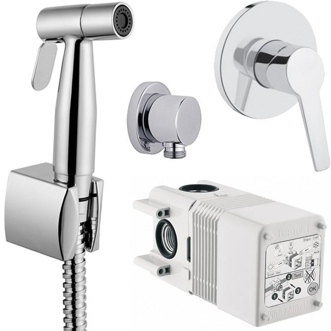 Гигиенический душ Vitra Solid S A49226EXP со смесителем Хром смеситель с гигиеническим душем vitra solid s a49226exp