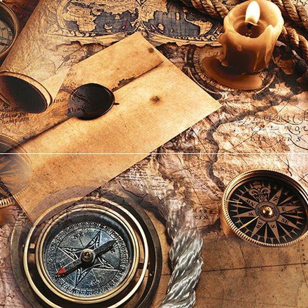 Керамическое панно Ceramica Classic Adventure P2D195 40х40 см табурет с каретной стяжкой белый 40х40 см