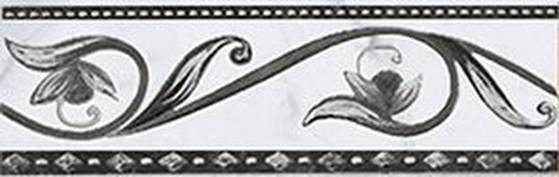 купить Керамический бордюр Ceramica Classic Argos nero 8х25 см по цене 155 рублей