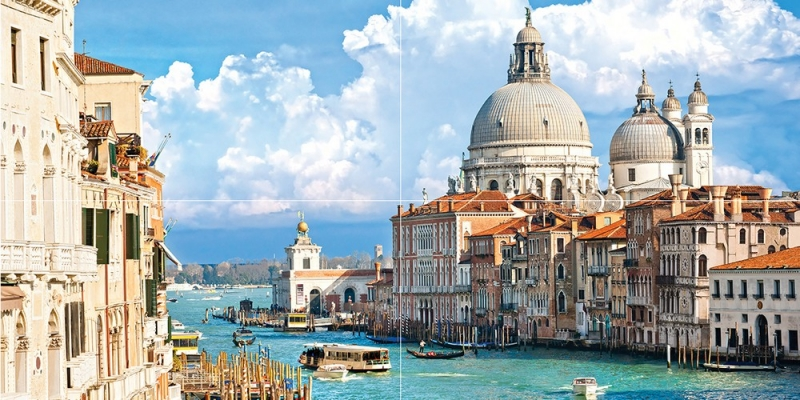Стеклянное панно Ceramica Classic Venezia 50х100 см