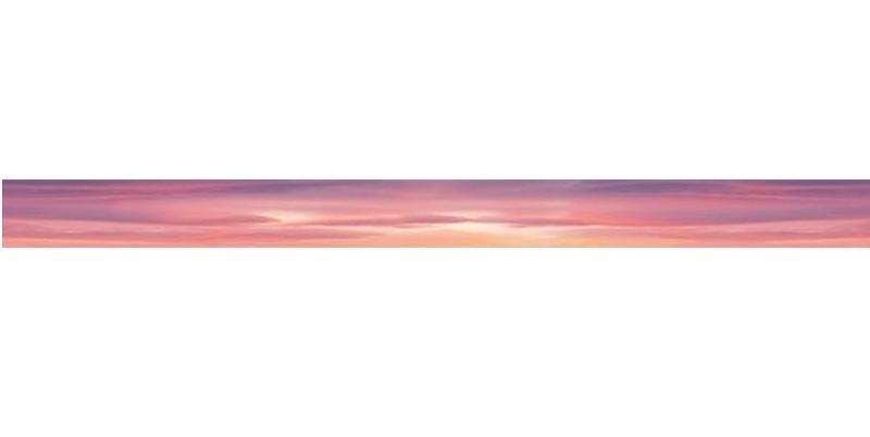 Стеклянный бордюр Ceramica Classic Flamingo Pink 4х50 см